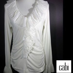 Vintage CAbi ruffled top! Gorgeous!